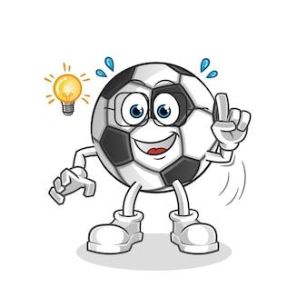 Ball hat eine idee illustration charakter