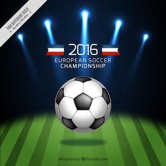 Ball im Fußballfeld Hintergrund