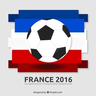 Ball mit frankreich flagge hintergrund