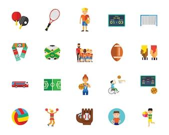 Ball-Spiele-Icon-Set