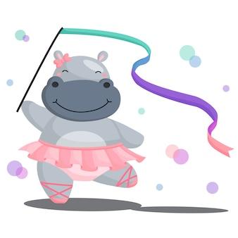 Ballerina-hippo