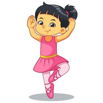 Ballerina-mädchen, das ballett übt.
