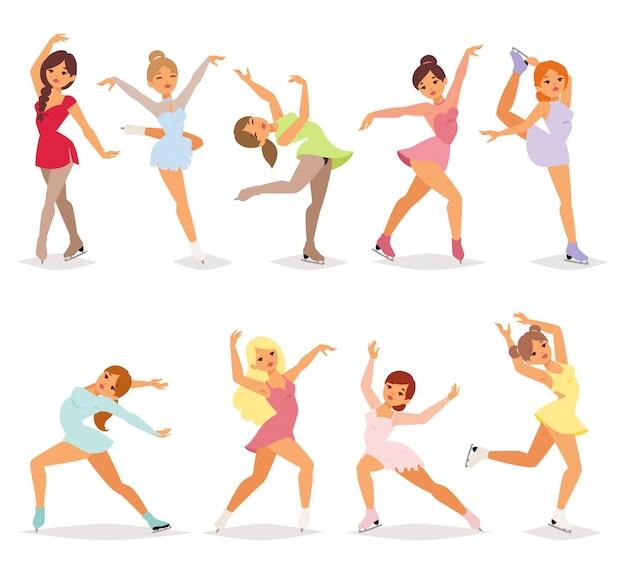 Ballerina tänzerin mädchen eingestellt.