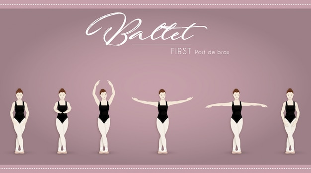Ballett erster port de bras