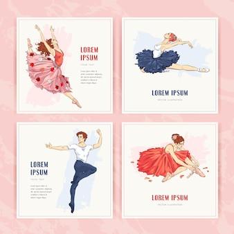 Ballett-grußkarten-set