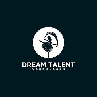 Ballett-logo-inspiration für unternehmen