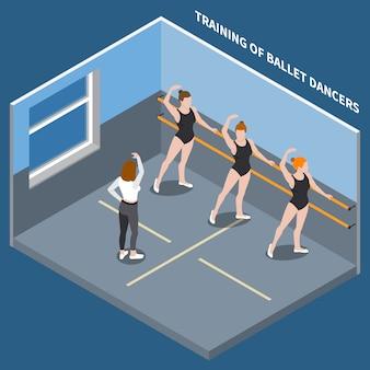 Ballett-tänzer-isometrische zusammensetzung