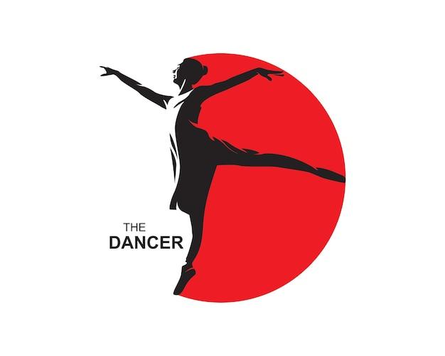Ballett tänzer silhouetten logo
