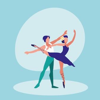 Balletttänzerpaare lokalisierten ikone