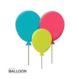 Ballon auf weißem hintergrund