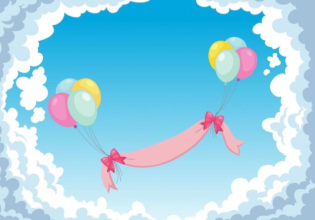 Ballon in der himmelbeschaffenheit