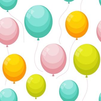 Ballon nahtloses muster auf weiß. vektor-illustration