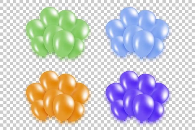 Ballon und konfetti banner.