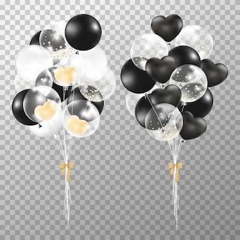 Ballone auf transparentem hintergrund.