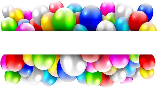 Ballone, die mit textraum schwimmen