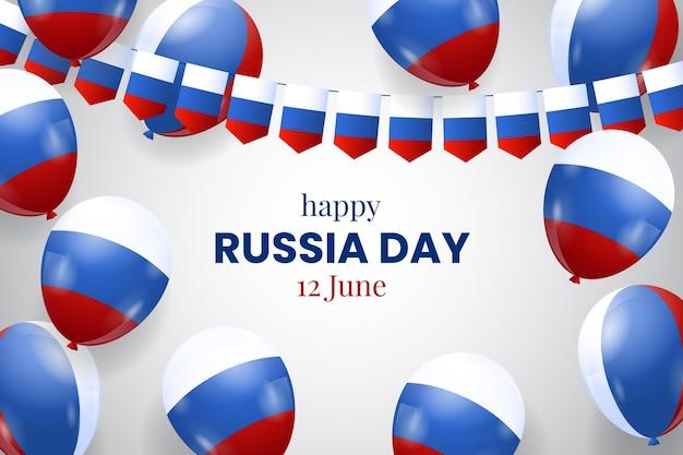 Ballonhintergrund des realistischen russland-tages