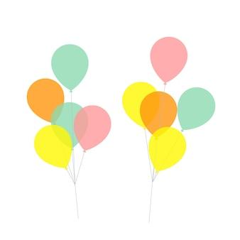 Ballons flaches illustrationsdesign isoliert