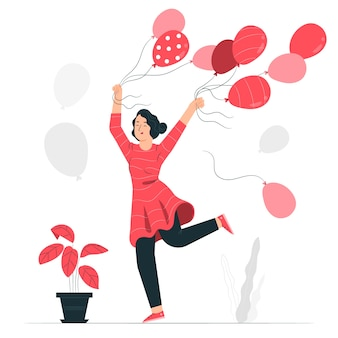 Ballons konzeptillustration