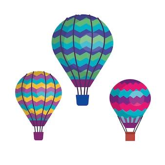 Ballons luft heiß fliegen