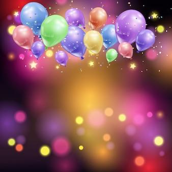 Ballons und bokeh lichter