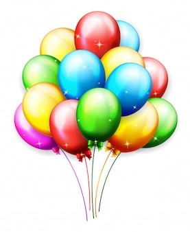 Ballons und konfetti für partys geburtstag