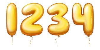 Ballonszahlen - eins, zwei, drei, vier