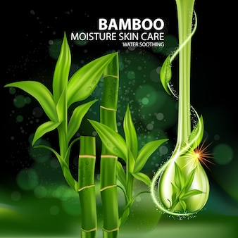 Bambus realistische pflanzenhautpflege kosmetik