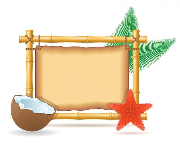 Bambusrahmen und kokosnuss
