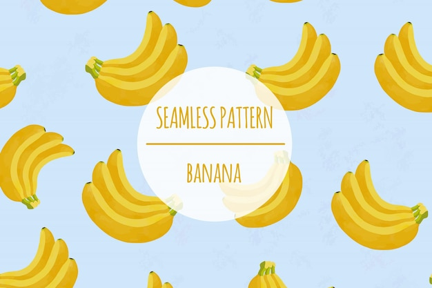 Banana seamless pattern premium