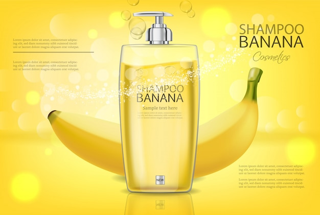 Banana shampoo banner