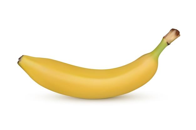 Banane auf weißem hintergrund. illustration