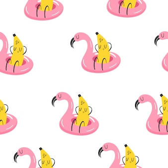Banane im schwimmkreis im urlaub