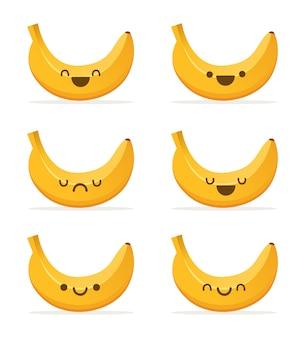 Banane niedliche illustration cartoon kawaii