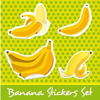 Bananen-aufkleber-set