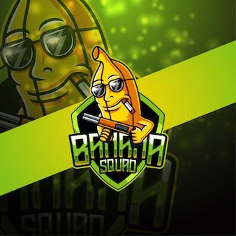 Bananen-esport-maskottchen-logo