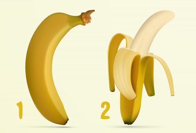 Bananen-icon-set