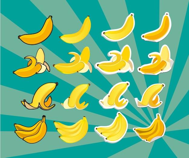 Bananen im bund geschält