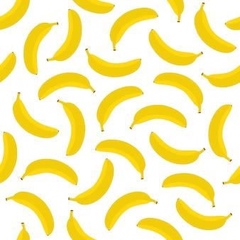 Bananen-nahtloses muster-hintergrund-vektor-design