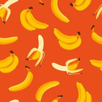 Bananen nahtloses muster