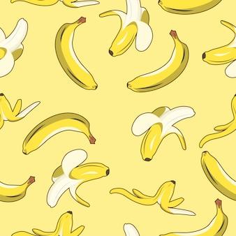 Bananenfrucht-nahtloses muster