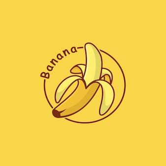Bananenfrucht-vektor-icon-design
