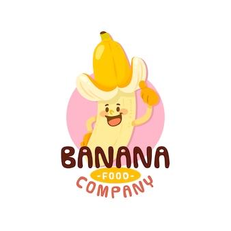 Bananenlogo-firma mit hut