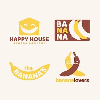 Bananenlogo-sammlung