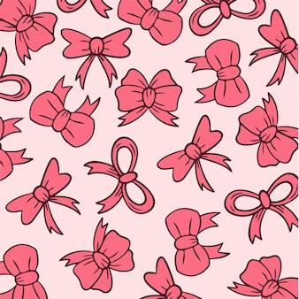 Band schleifen muster hintergrund social media post vector illustration