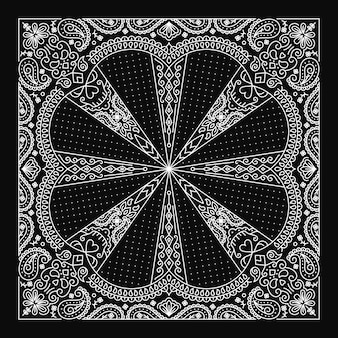 Bandana paisley ornament design mit abstrakten schädel ornament