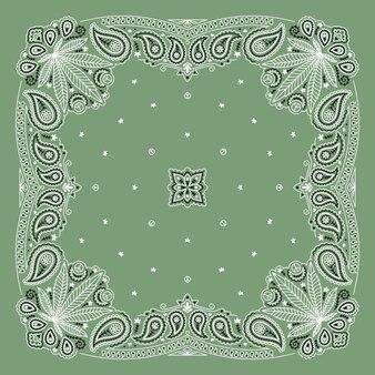 Bandanna paisley ornament design mit cannabisblatt