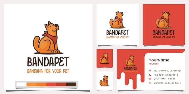 Bandapet bandana für ihre haustier-logo-visitenkarte