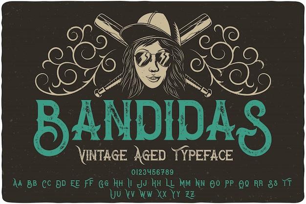Bandidas label schrift