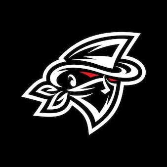 Banditen-gangster-maskottchen-logo