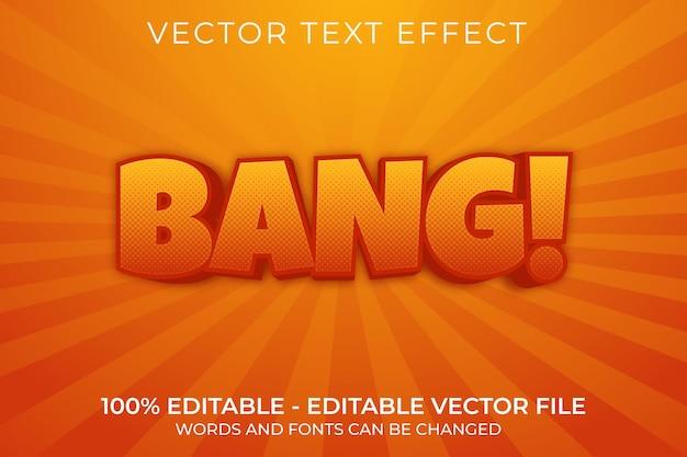 Bang 3d bearbeitbarer texteffekt